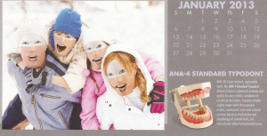 Calendar of dental mannequin family