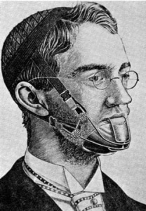 Rendered portrait of a man in old-fashioned headgear